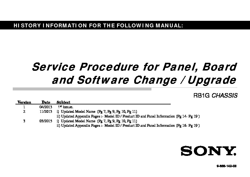 Sony KDL-42W650A Service Manual — View online or Download