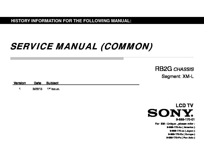 Sony KDL-32W700C, KDL-32W705C, KDL-40W700C, KDL-40W705C