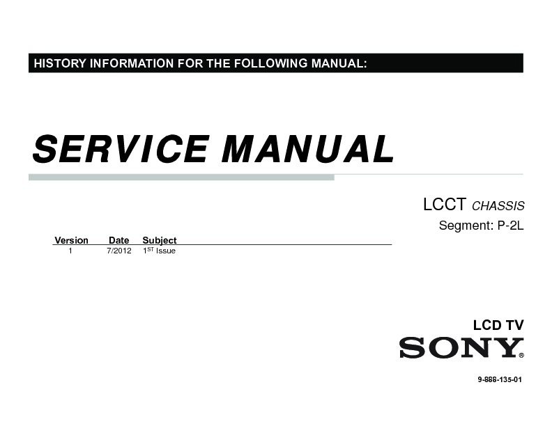 Sony KLV-24EX430 Service Manual — View online or Download