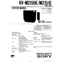 Sony KV-M2150E Service Manual — View online or Download