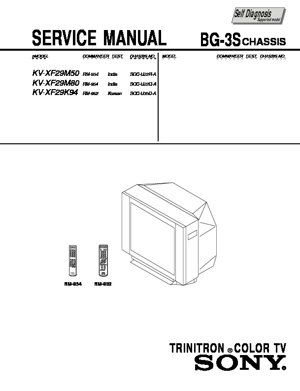 Sony KV-XF29K94 Service Manual — View online or Download