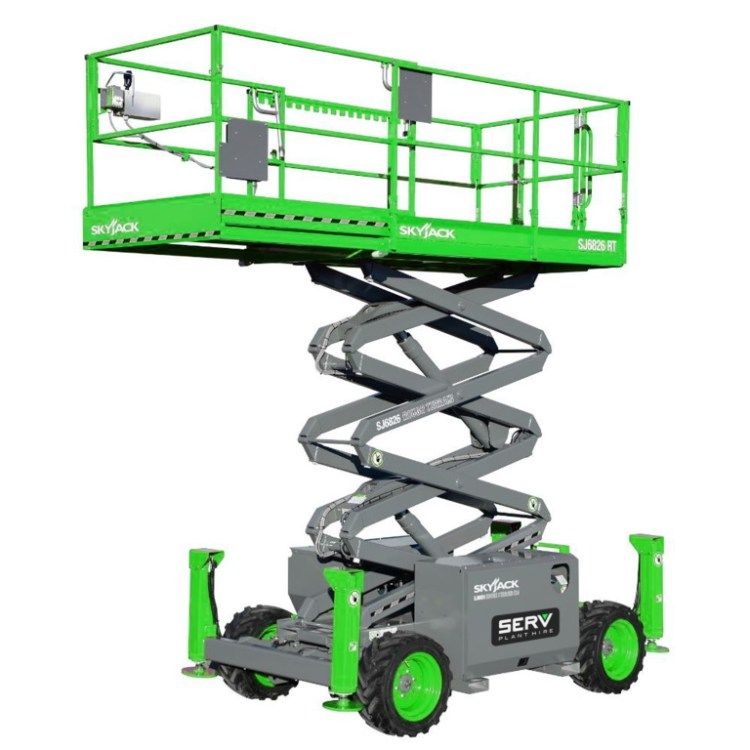 Rough Terrain Scissor Lift - SERV Plant Hire