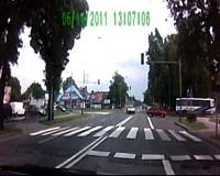 Nauka jazdy w Zamościu. Żółte na skrzyżowaniu