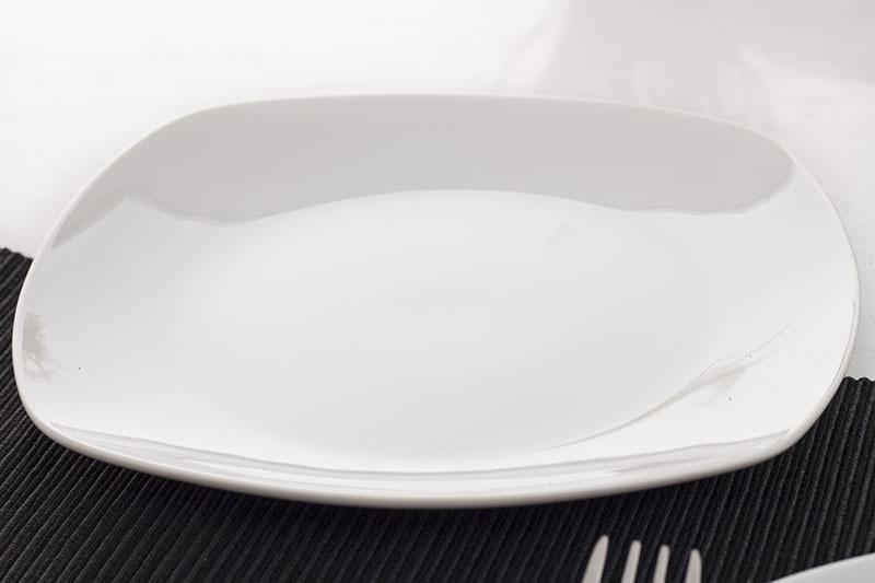 Importowana Biała Porcelana Stołowa Giardino W003 Serwis