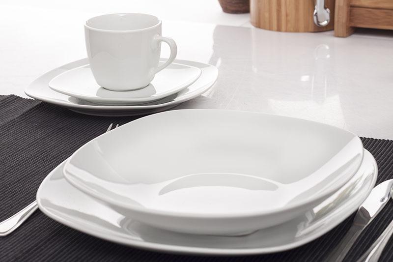 Klasyczna I Prosta Porcelana Giardino W003 Serwis Obiadowy