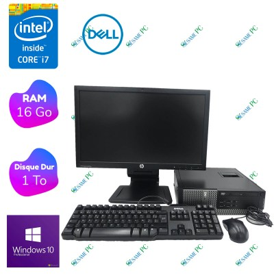 PC Bureau Complet - DELL Optiplex 7010 i7 - 16 Go RAM- 1 To HDD - Windows 10