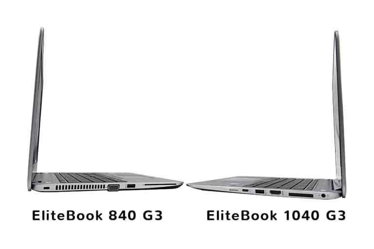 Comparaison EliteBook 840 G3 / EliteBook Folio 1040 G3