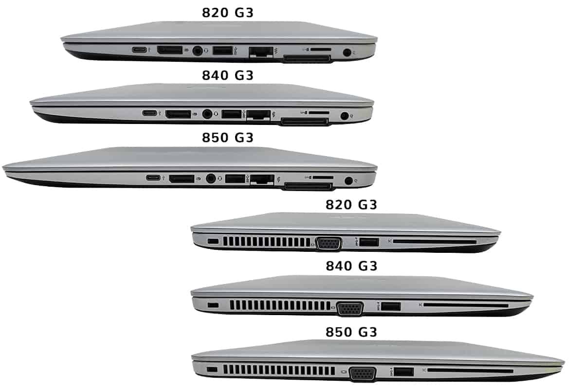 HP Elitebook série-800-connectiques