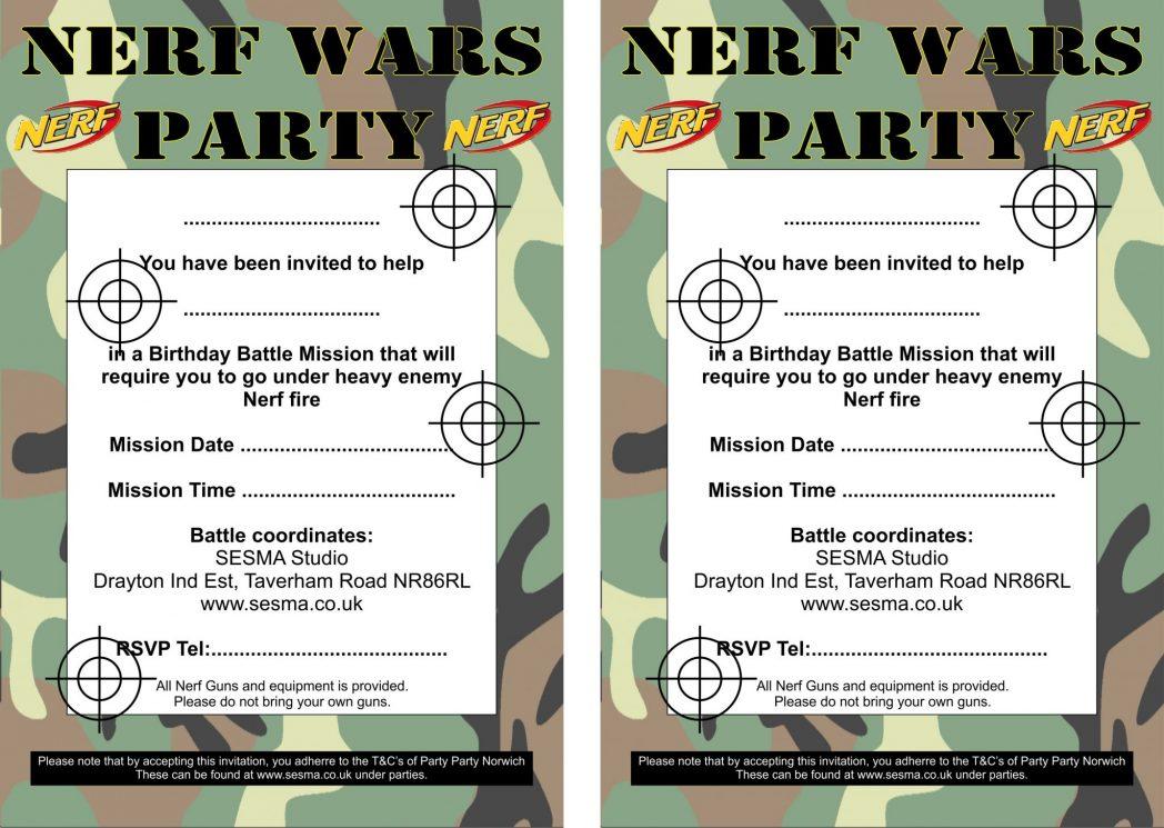 nerf gun parties sesma martial arts uk