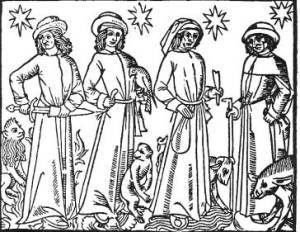 Les 4 tempéraments et leurs attributs symboliques