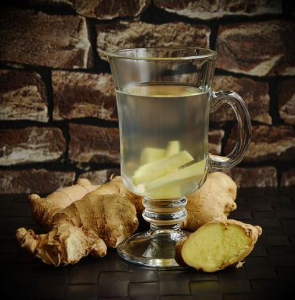 Une infusion de rhizome de gingembre pour tonifier l'estomac