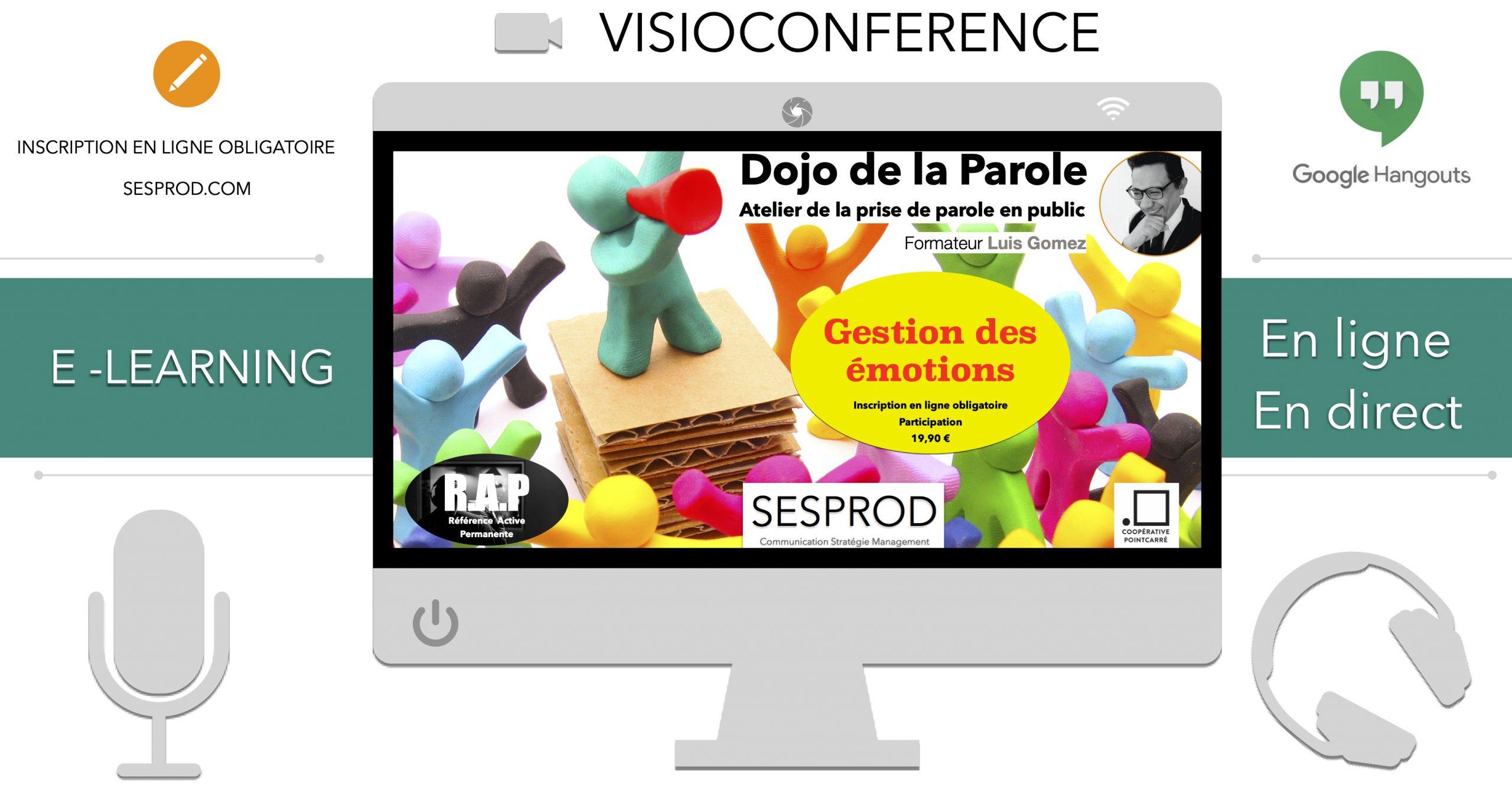 Visioconférence, atelier de la prise de parole en public