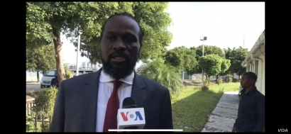 Antonio Cheramy in front of the Senatè, on Sept 23, 2019 in Port au Prince, Haiti.