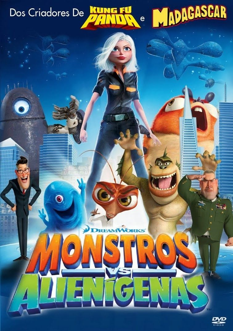 Monstros vs Alienígenas - Cartaz
