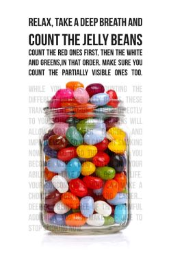 Jelly Beans quit smoking poster