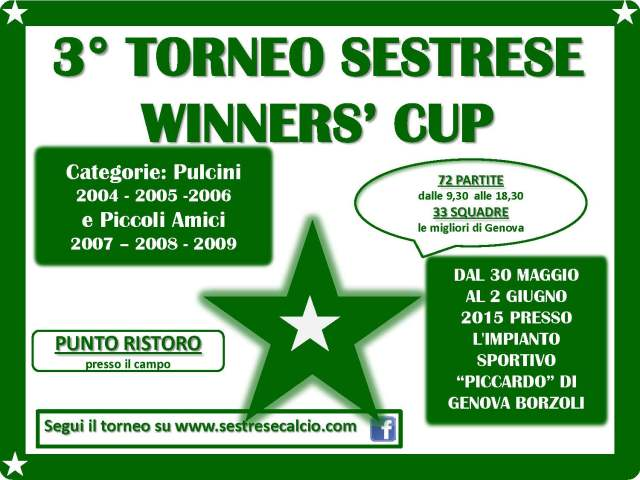 3° torneo sestrese winners' cup