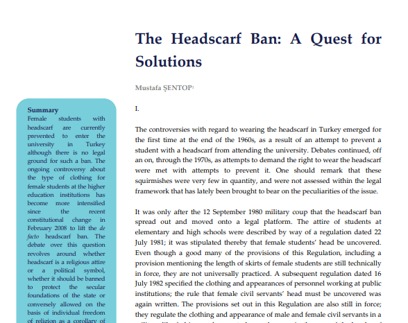 The Headscarf Ban: A Quest for Solutions
