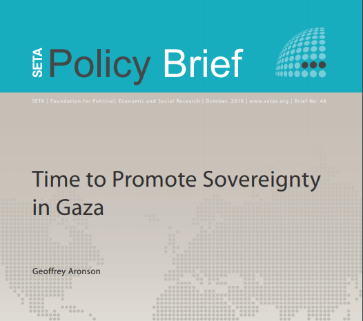 Time to Promote Sovereignty in Gaza
