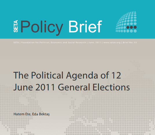 The Political Agenda of the June 2011 General Elections