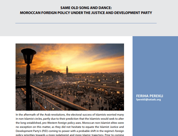 Moroccan Foreign Policy Under the Justice and Development Party