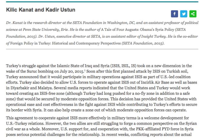 U.S.-Turkey Realignment on Syria