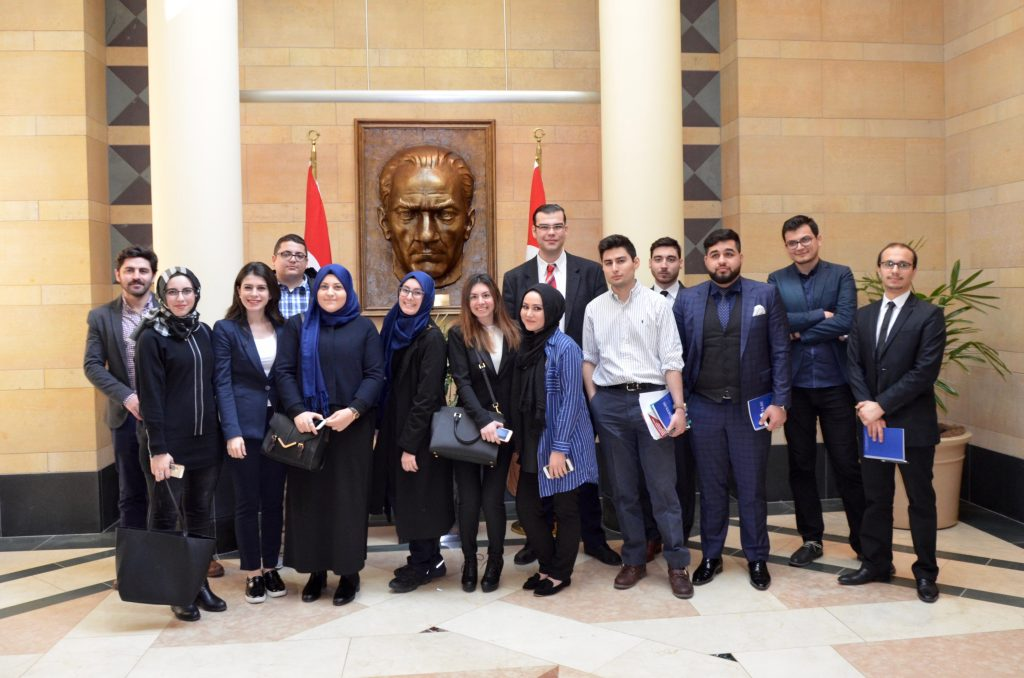 Students at the Embassy of Turkey in Washington, D.C.