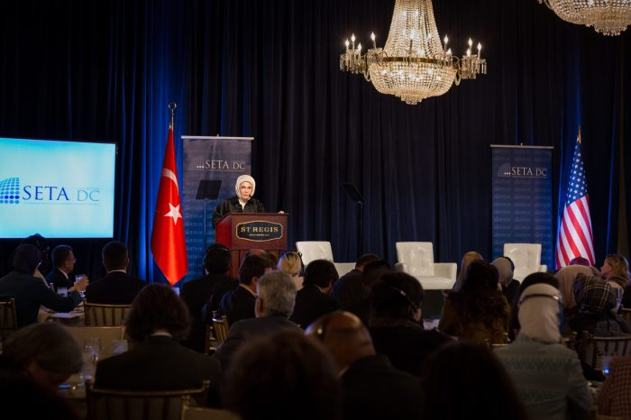 SETA DC Hosted Conference on the Syrian Refugee Crisis with H.E. Mrs. Emine Erdoğan