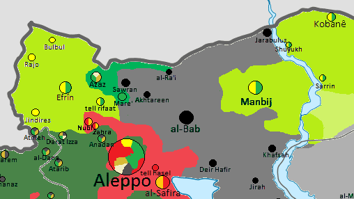Map of Northeastern Syria, August 16
