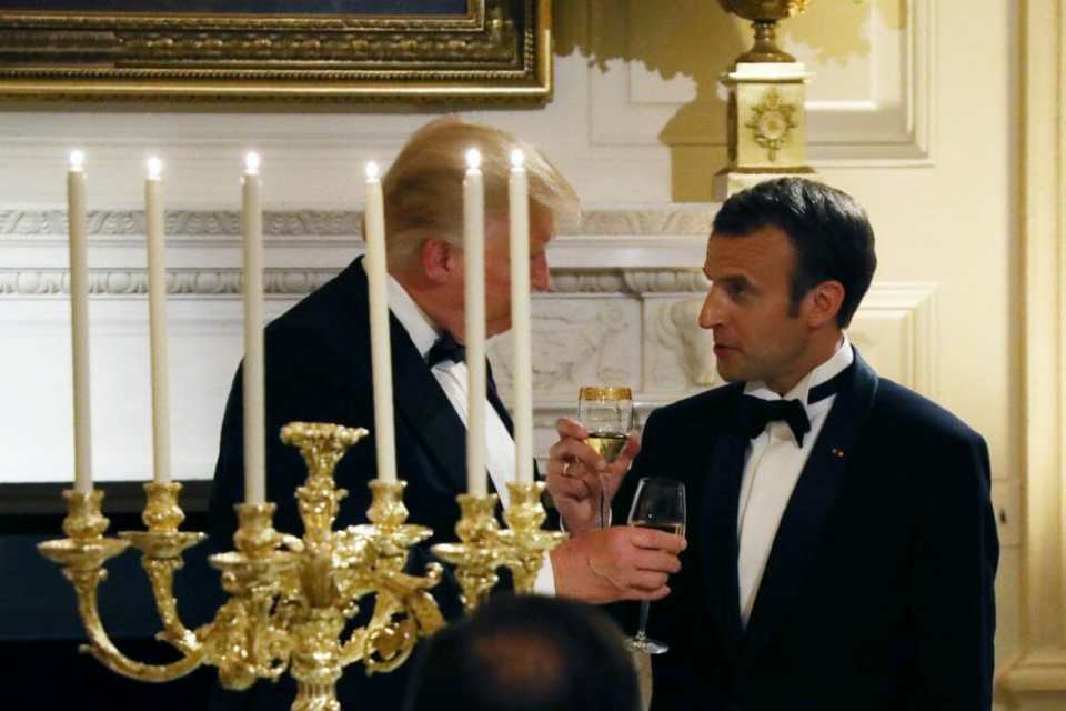 Macron Tries to Nudge Trump on Syria Policy