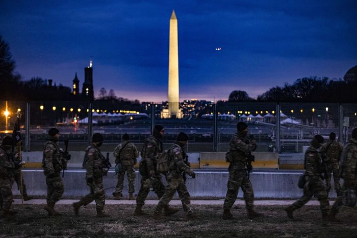 An unprecedented inauguration post-storming