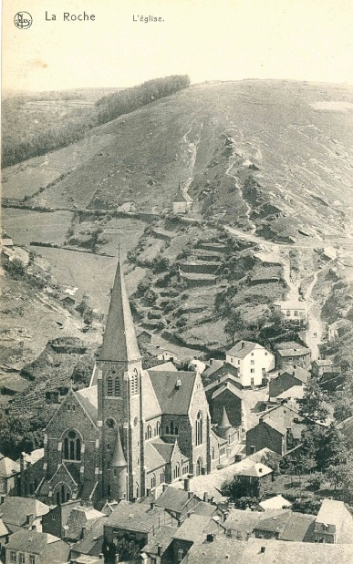 La Roche-en-Ardenne - Les terrasses de la rue Gohette
