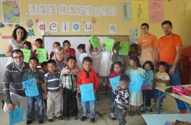 Una pequeña escuela en el Honduras rural