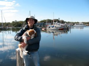 At the dock at Dog River