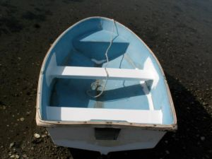 "New thwart and reinforcing for the ""new"" fiberglass dinghy"