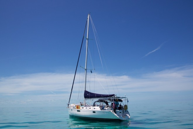 Beneteau 445 Starlight on the Bahama Bank