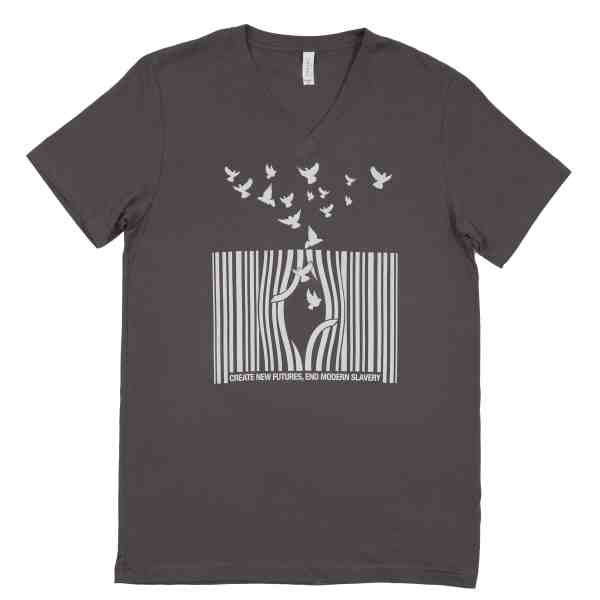 set free movement unisex v_neck end modern slavery create new futures bydfault