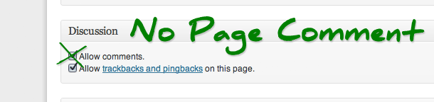 Latest Plugin Development: No Page Comment
