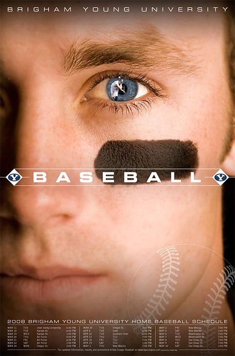 2008 BYU Baseball Poster Design Process: Final