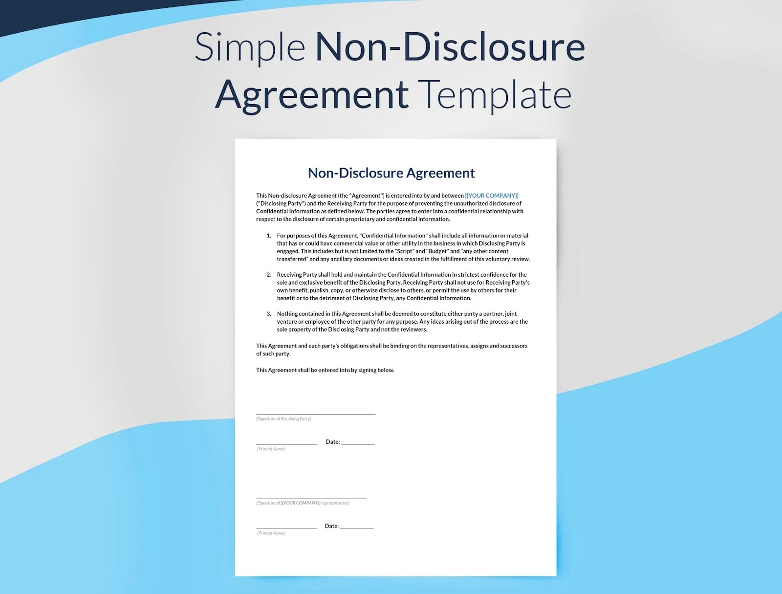 The form encourages businesses and individuals to cooperate without fear that shared information could later be used to undermine. Non Disclosure Agreement Template Sethero