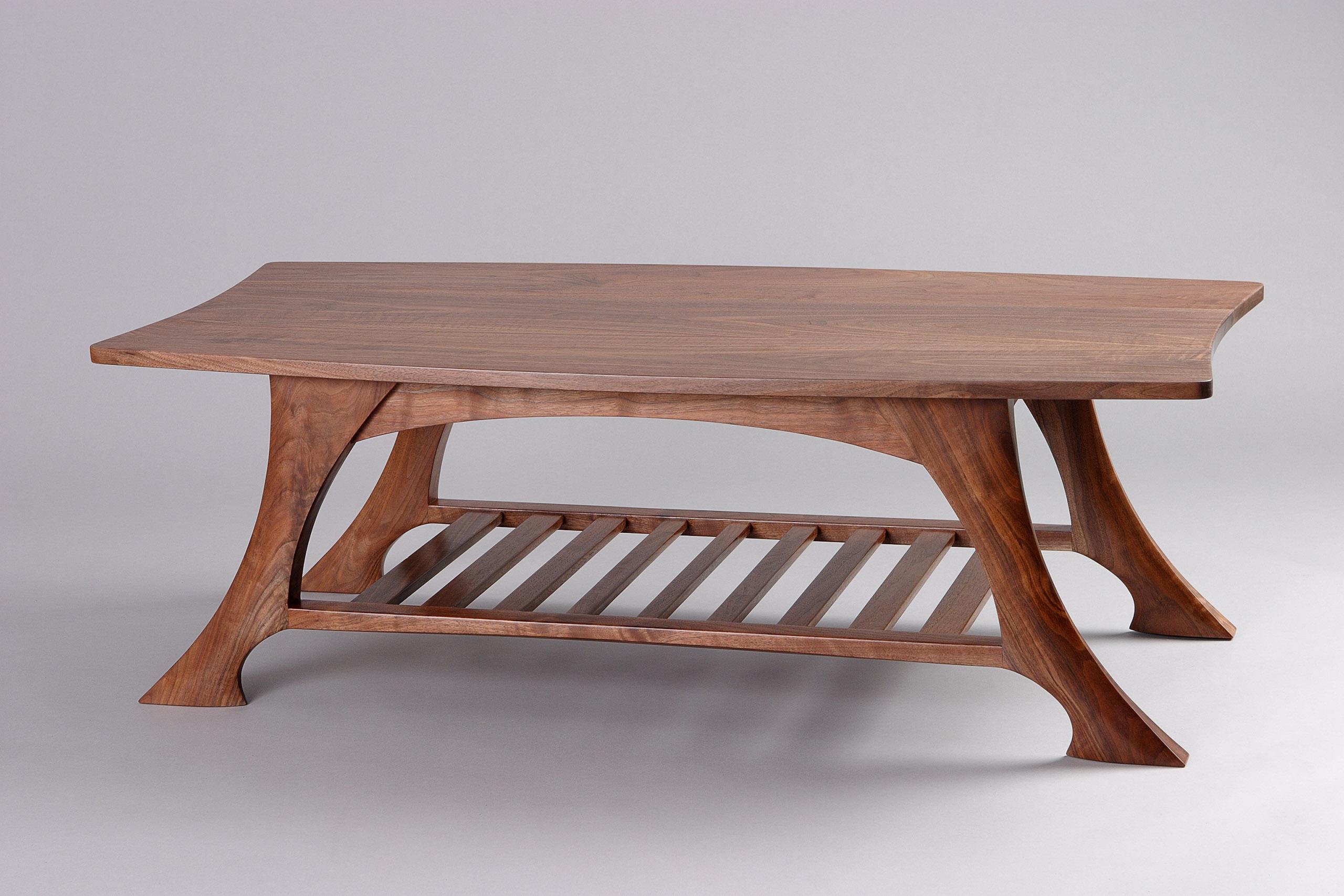 casa grande coffee table black walnut solid wood seth rolland