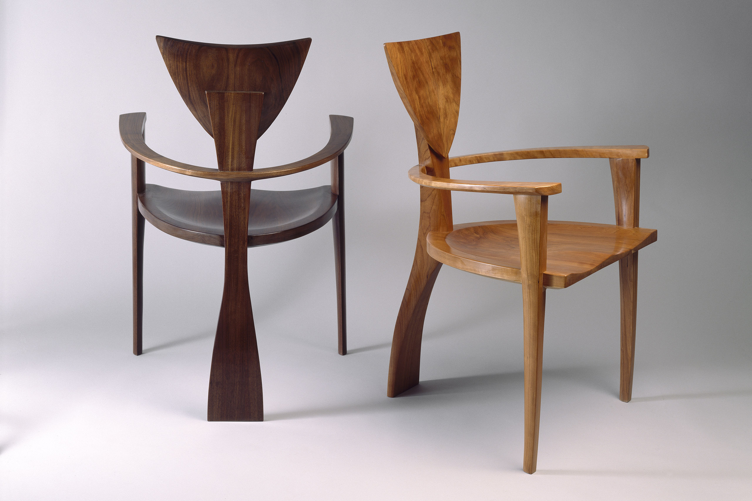 upholstered chairs with wooden arms adjustable makeup chair finback | custom designed solid wood - seth rolland