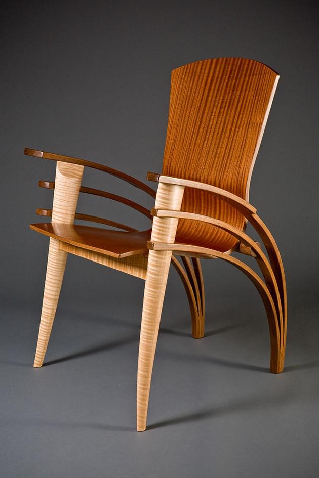 Trimerous Desk Chair  Custom Hardwood Furniture  Seth