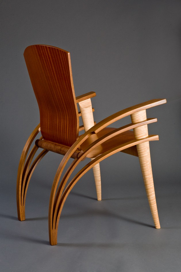 wooden chair design dining white french bistro chairs trimerous desk | custom hardwood furniture - seth rolland