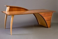 Trimerous Desk | Hall & Console Hardwood Table - Seth Rolland