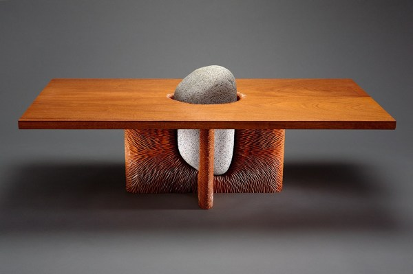 Tsubo Coffee Table Stone And Wood Furniture - Seth Rolland