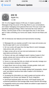 iOS 10 Software Update