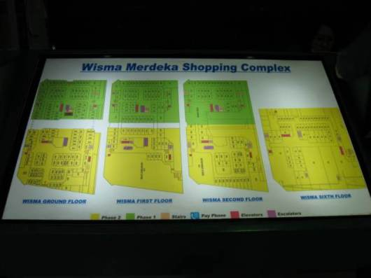 Wisma Merdeka Shops Map