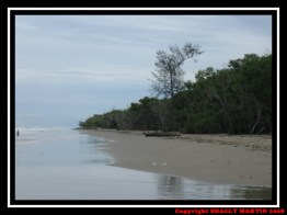 Along the beach in Tuaran Beach Resort
