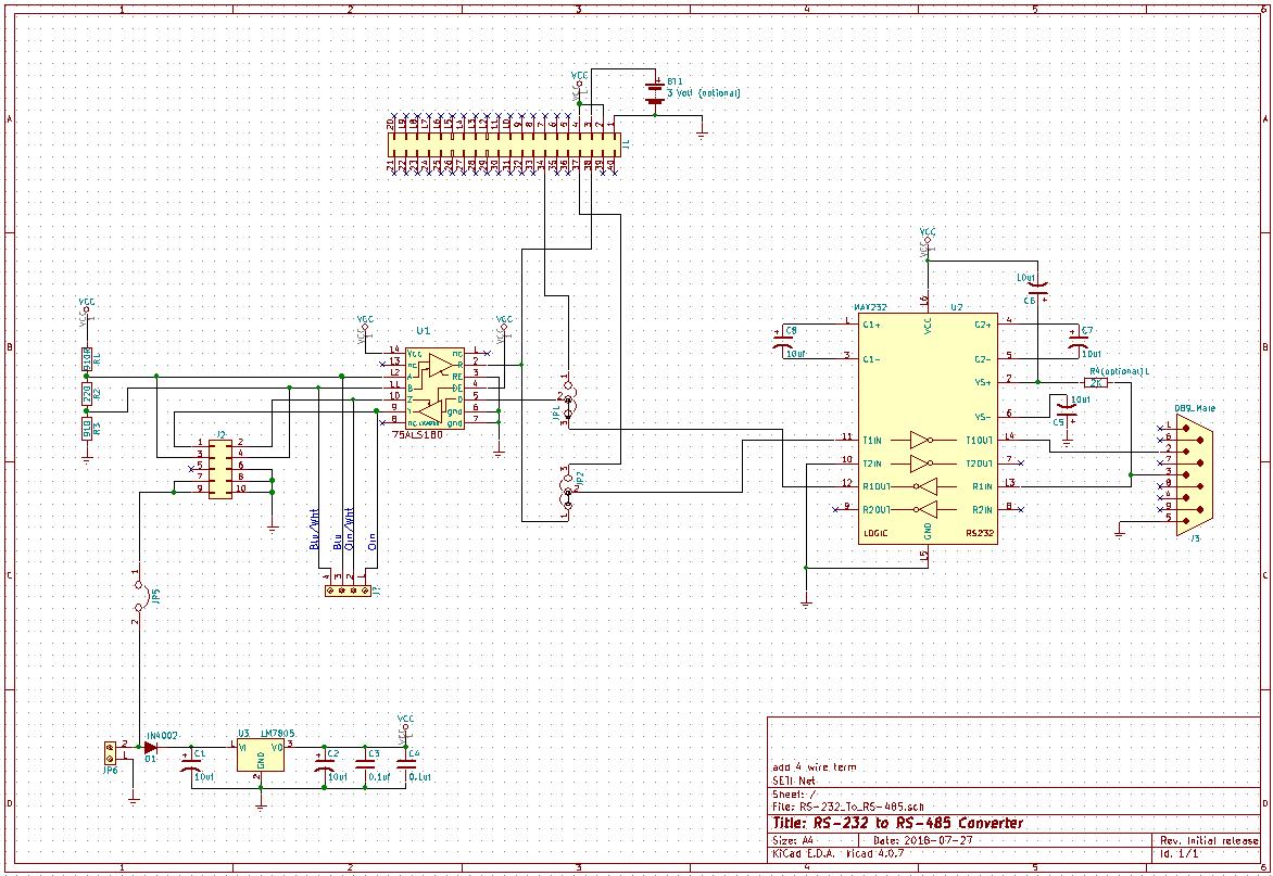 rs 232 to 485 converter circuit diagram difficult origami