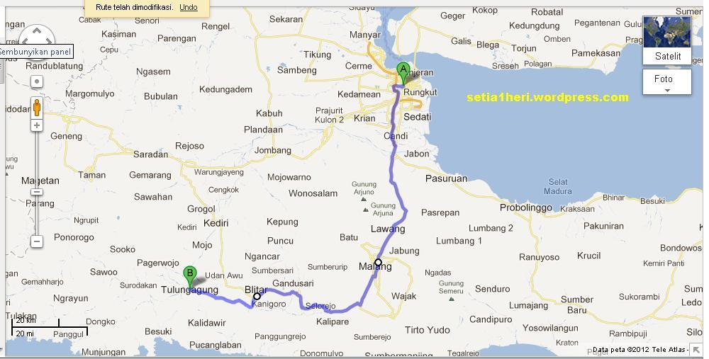 Info jalur mudik Titik Rawan Jawa Timur  setia1hericom